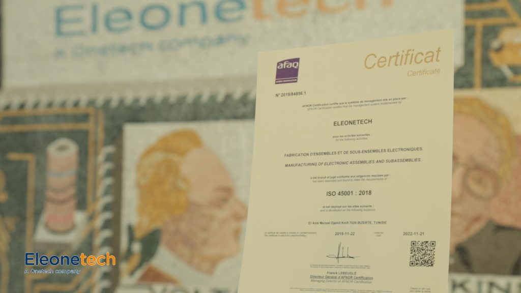 Eleonetech: ISO 45001 officially awarded
